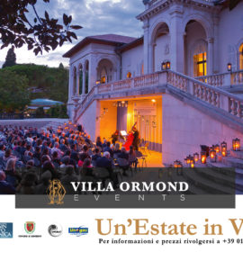 Un'Estate in Villa 2019 – Calendario Eventi